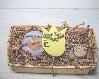 Spa gift set, easter gift set, easter gift for her, spa set box, spa gift, bath bomb set, naturual bath fizzies, natural gift set