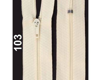 ecru nylon closure size 18 cm
