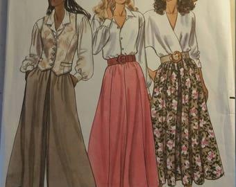 1989 Butterick 4478 Fast & Easy Size 12-14-16 Skirt/Culotte Pattern