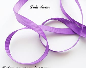 Ribbon 10 mm, sold in 2 meters grosgrain: Violet