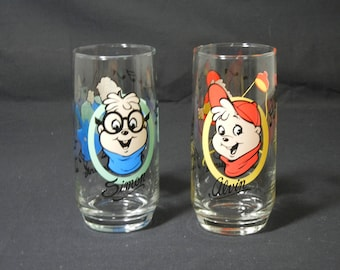 1985 Alvin and the Chipmunks Drinking Glass 1985 Bagdasarian Productions