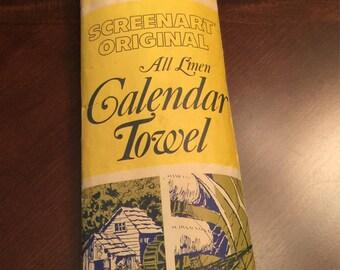 1979 All Linen Calendar Towel