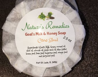 Goat's Milk & Honey Citrus Soap