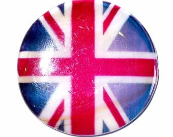 Union jack PNP33 35 mm mother of Pearl 1 bead