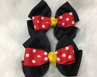 Minniemouse bow /bows/minnie mouse/babybows/takemehome
