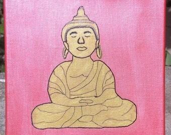 Buddha painting on canvas