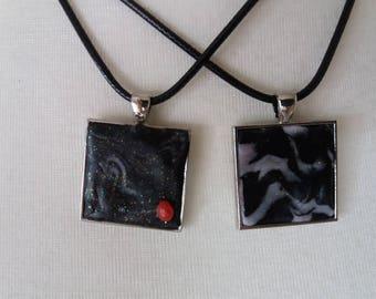BLACKY black/white necklace