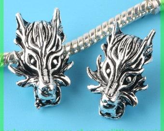 Pearl European N202 Wolf for bracelet charms