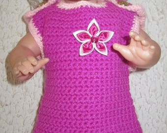 Crocheted to 53 cm doll dress