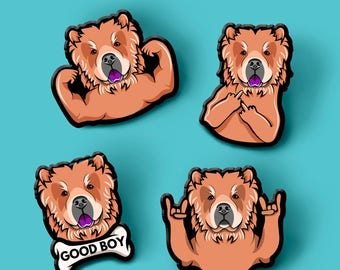 Chow Chow pin | Dog brooch | Gift For Dog Lover | Gesture | Handmade pin | Chow Chow brooch | Pet Loss Gift | Cute dog pin | Chow Chow lover