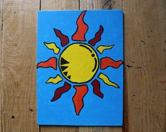 Colorado Sun, Acrylic on Canvas.