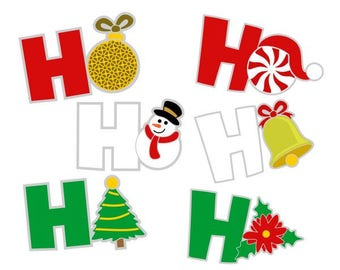Ho Ho Ho Christmas Cuttable Design SVG PNG DXF & eps Designs Cameo File Silhouette