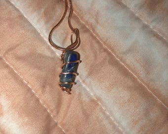 Lapis necklace pendant
