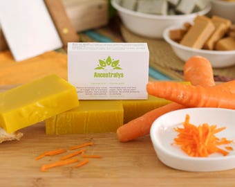 Gold carrot SOAP. Enjoy the Sun and show skin amber with fresh carrots. Dare to color!