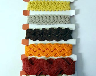 Brown wavy ribbons (6x1m) Artemio - sewing, scrapbooking, deco