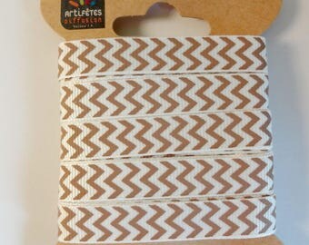 Ribbon 5 m printed Chevron - large grains - scrapbooking - couture creations