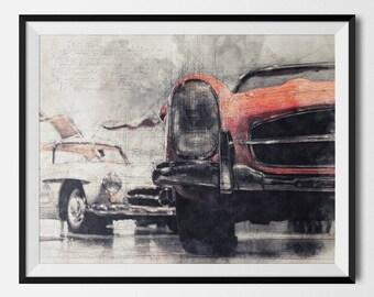 Classic Car Print, Classic Car Poster, Vintage Car Print,Vintage Car Poster,Retro Car Print,Retro Car Poster,Car Printable, INSTANT DOWNLOAD