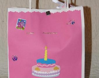 Kraft gift wrapping paper bag customized theme birthday girl