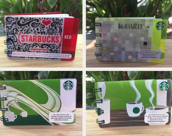 Starbucks Upcycled Gift Card Notebook- Mini Notepad Red Jonathan Adler Rodarte Coffee Cup Notes