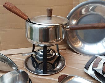 Scandinavian design fondue pan