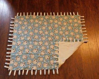 Owl tag blanket