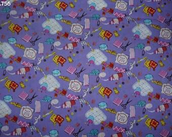 Amid purple coupon 35x50cm C756 fashion fabric