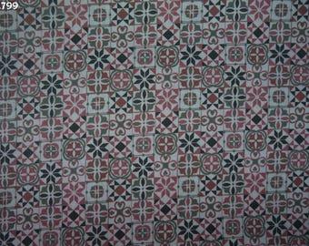 Fabric C799 printed pink/gray coupon 35x50cm