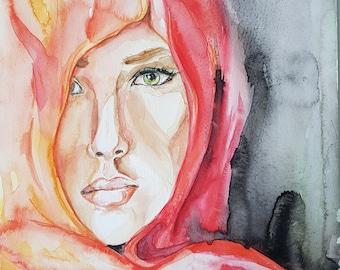 Deira - Original Watercolor Art