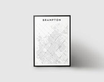 Brampton Map Print