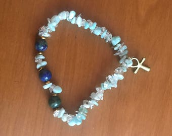 Egyptian Goddess - Azurite and Larimar
