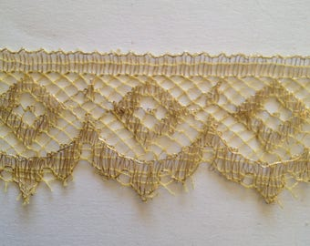 lace 1930 gold metal wire