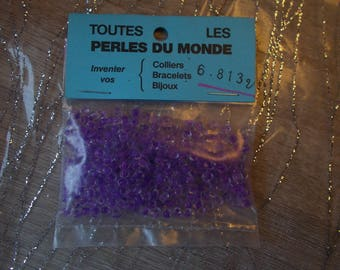Purple and transparent beads (28)