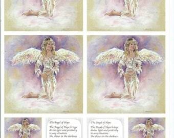 paper cut card 3D Ange hope