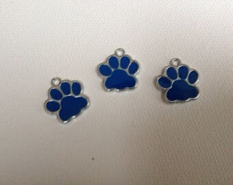 charms enamel blue and silver 3d 1.50 cm