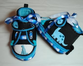 My Blue Dino Boys' Shoes 0-6 months