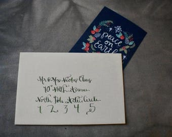 Christmas Modern Calligraphy-- Full Name