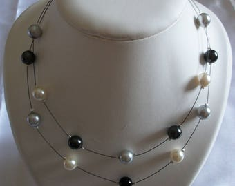gift idea for mother's day. Necklace 2 rows.