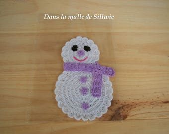 snowman white and purple for scrapbooking