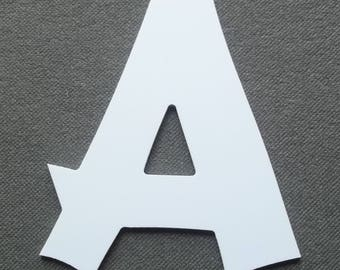 Letter PVC plastic model CANCUN; all letters available