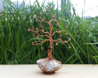 Copper | tree of life | tigers eye | crystal | geode
