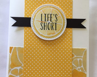 Squeeze It Lemon All Occasion Card
