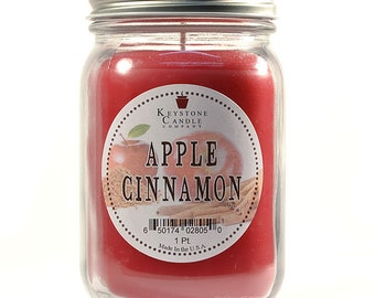 Pint Mason Jar Candle Apple Cinnamon