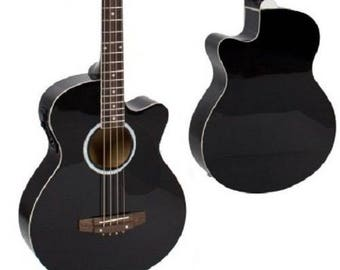 Electric Acoustic Bass Guitar With Equalizer