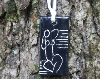 Ceramic Pendant • Henri Matisse Inspired