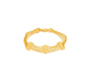 Gold Rush Beaded Chain link bracelet