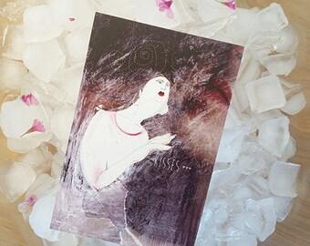 She. Kisses, illustration love, kissing card, valentine card, friendship card, postcard love, postcard kisses