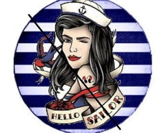 20mm, pinup hello sailor (stripes background)