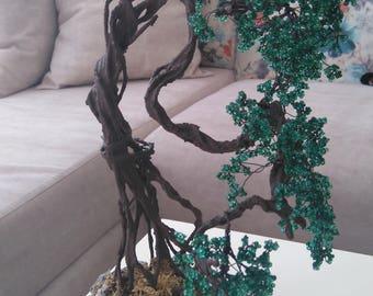 3 Beaded bonsai tree handmade gift, home decor
