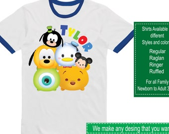Disney Tsum Tsum Shirt/Tsum Tsum Shirt/Tsum Tsum Party/Tsum Tsum/Tsum Tsum Birthday/Tsum Tsum Stickers/Disney Tsum Tsum/Tsum Tsum Invitation