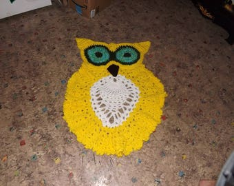 Yellow Owl Rug